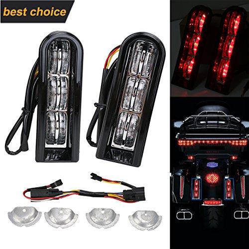 Black Saddle bag LED Accent Light Insert Filler Support for Harley Touring 2014-2017