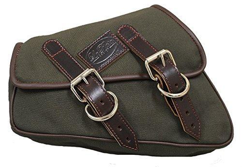 La Rosa Design 2004&UP Harley Sportster Eliminator Canvas Left Side Saddle Bag - Army Green