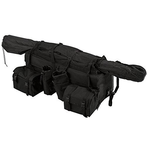 Rage Powersports ATV-FRBG-9010 ATV Cargo Rack Gear Bag with 57 Soft Rifle Case Front