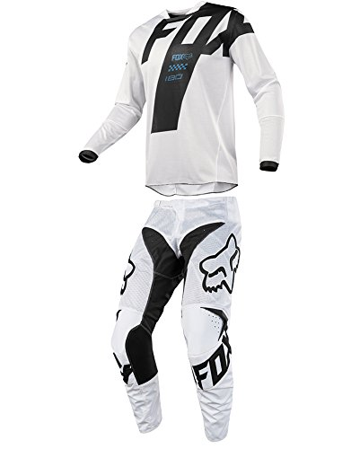 Fox Racing 2018 180 Mastar Airline White JerseyPants Adult Mens Combo Offroad MX Gear Motocross Riding Gear White