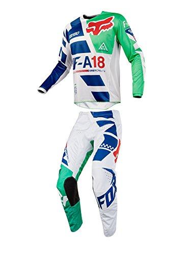 Fox Racing 2018 Youth 180 Sayak Combo Jersey Pants ATV UTV MX Offroad Dirtbike Motocross Riding Gear Green