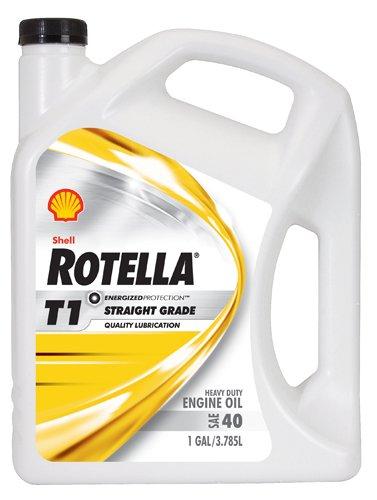 Shell ROTELLA 550019858-3PK T1 40 Heavy Duty Engine Diesel Oil - 1 Gallon Jug Pack of 3