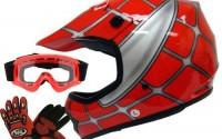 TMS-Youth-Kids-Red-Spider-Net-Dirt-Bike-Atv-Motocross-Helmet-W-goggles-gloves-Medium-9.jpg